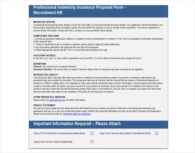 hr recruitment proposal template