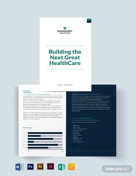 health and safety annual report bi fold brochure template