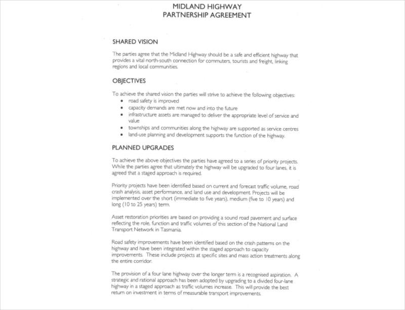 highway partnership agreement