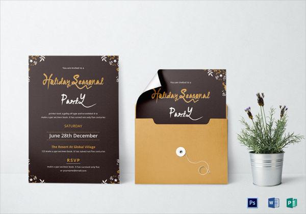 holiday seasonal party invitation