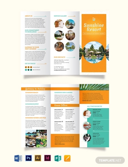 holiday tri fold brochure template