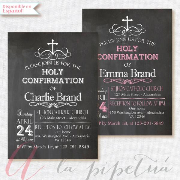 holy confiramation invitation