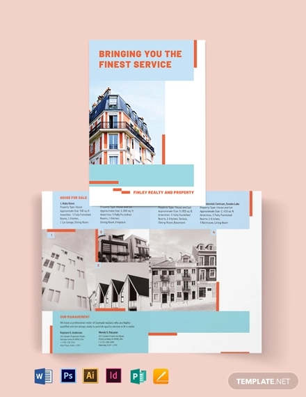 house realtor bi fold brochure template