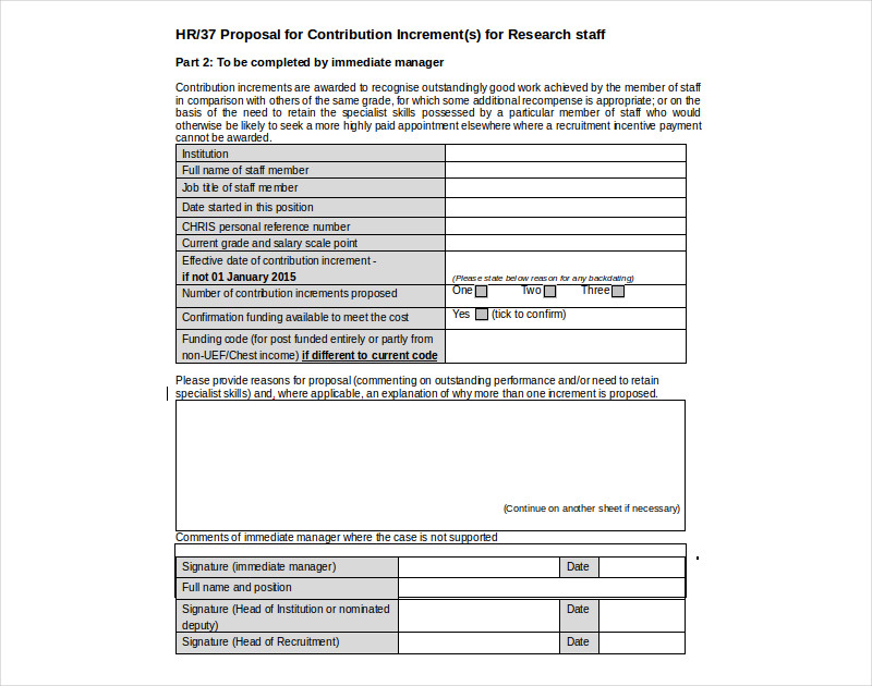 hr proposal template in word