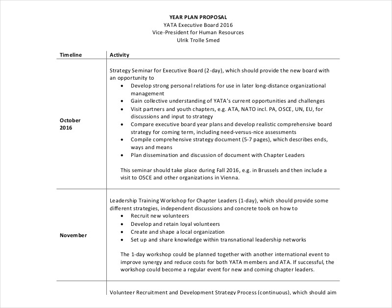 human resources plan proposal template