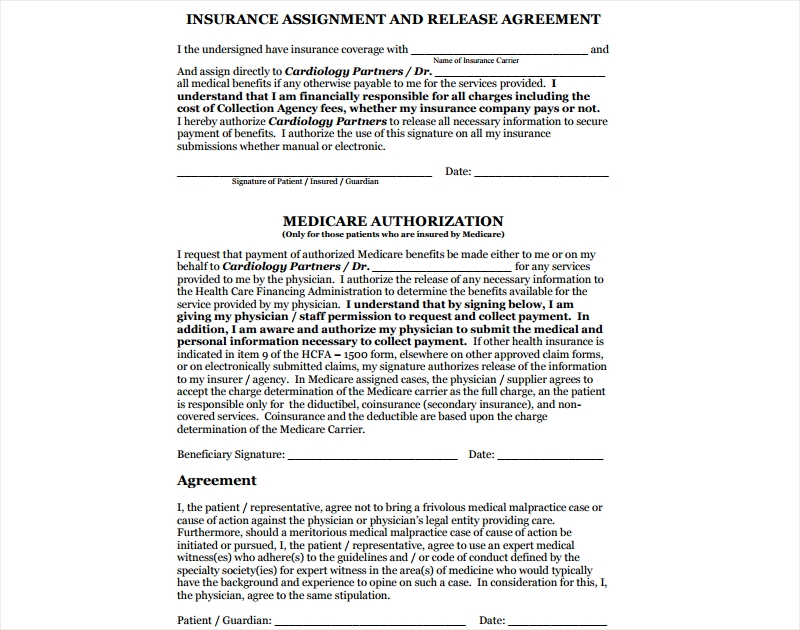 insurance assignment and release agreement