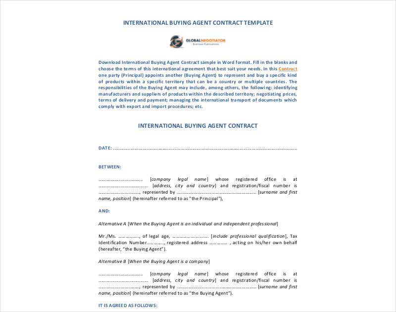 international buying agent contract1