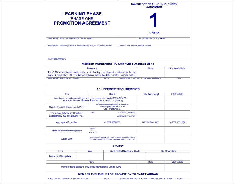 learning phase promotion agreement