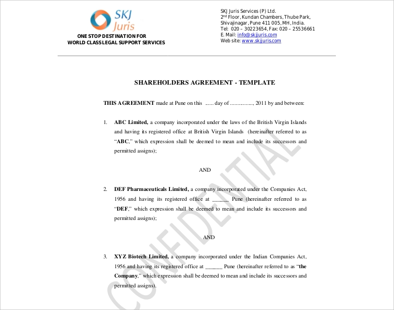 legal shareholder agreement