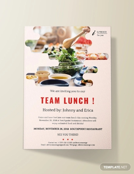 22 Lunch Invitation Designs Examples