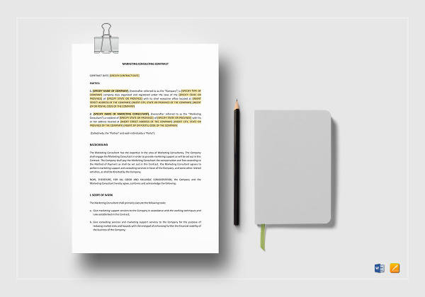 marketing consulting contract