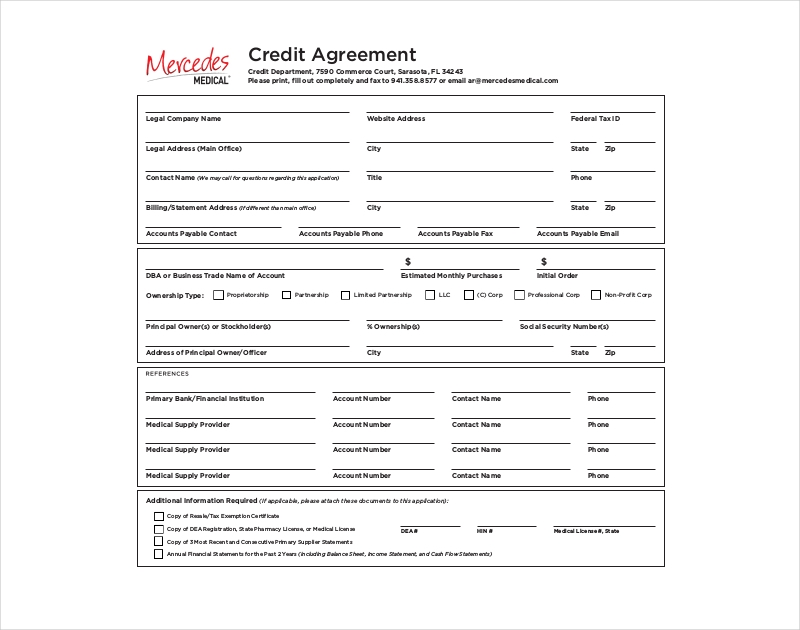 medical credit agreement