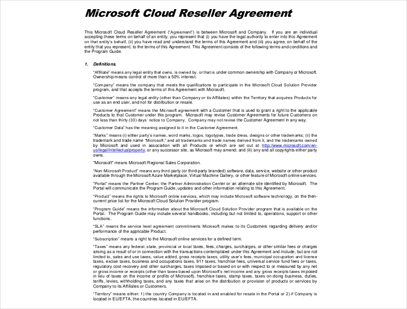 15 Reseller Agreement Examples Pdf Doc