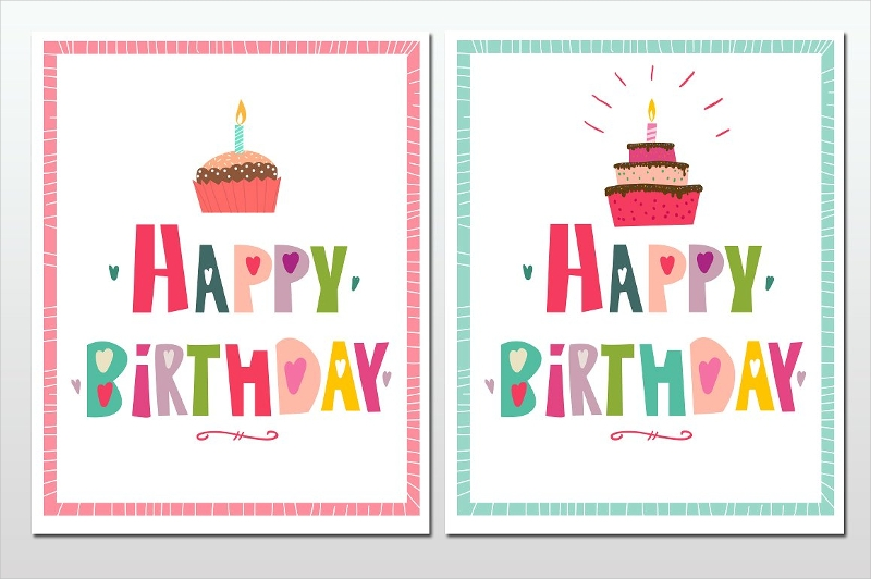 minimal happy birthday greeting card