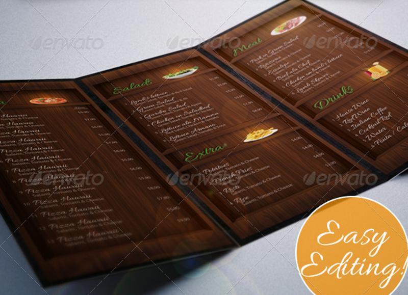 modern restaurant menu 1