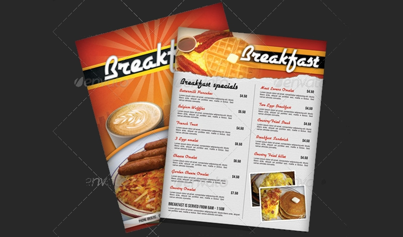 multi use breakfast menu