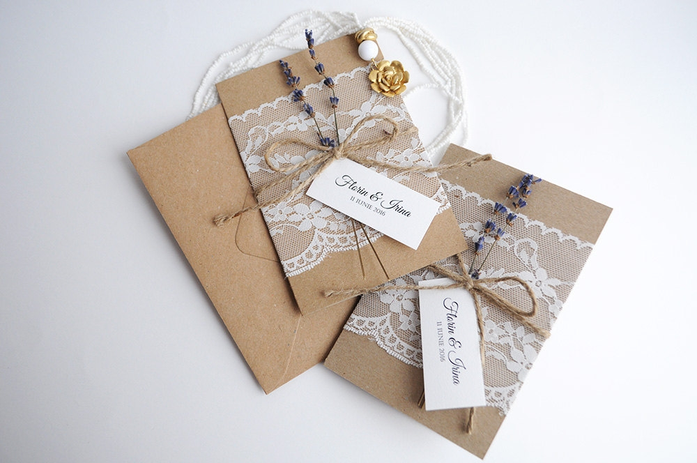 old rustic invitations