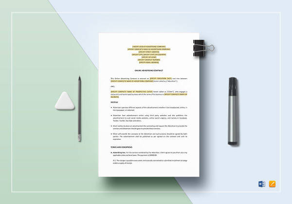 online advertising contract template1