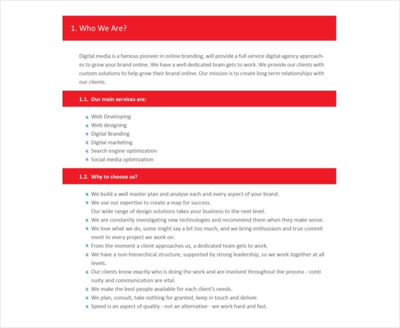 online branding proposal