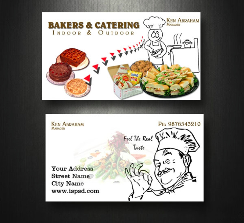 outdoor catering business card