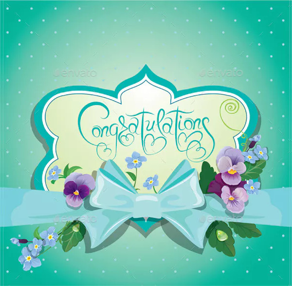 pastel congratulations card
