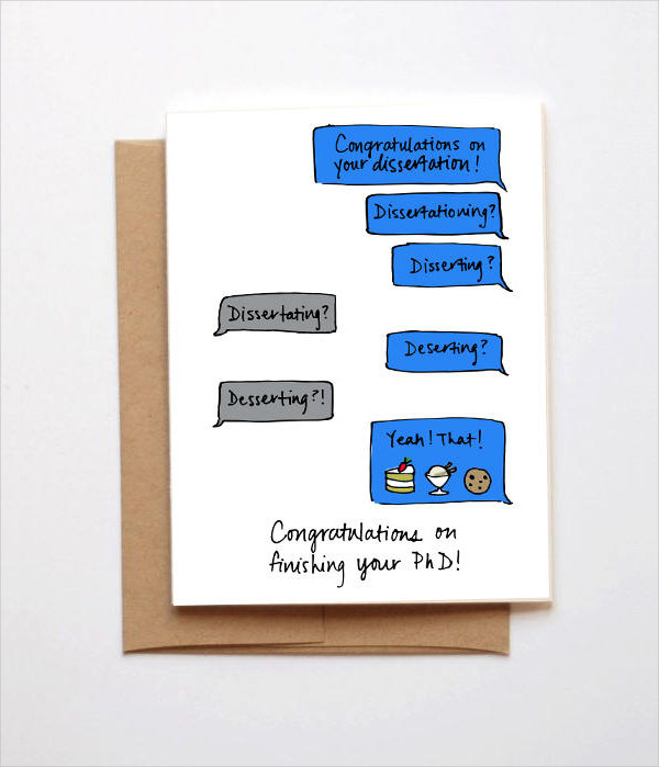 phd graduate congratulations card
