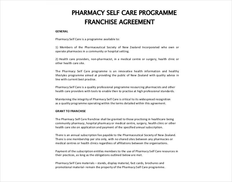 pharmacy franchise agreement
