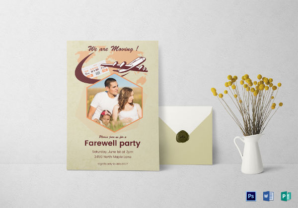 photo farewell party invitation template
