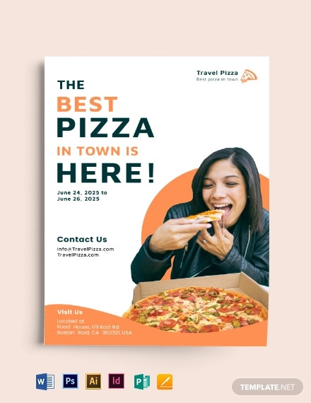 pizza a5 flyer template