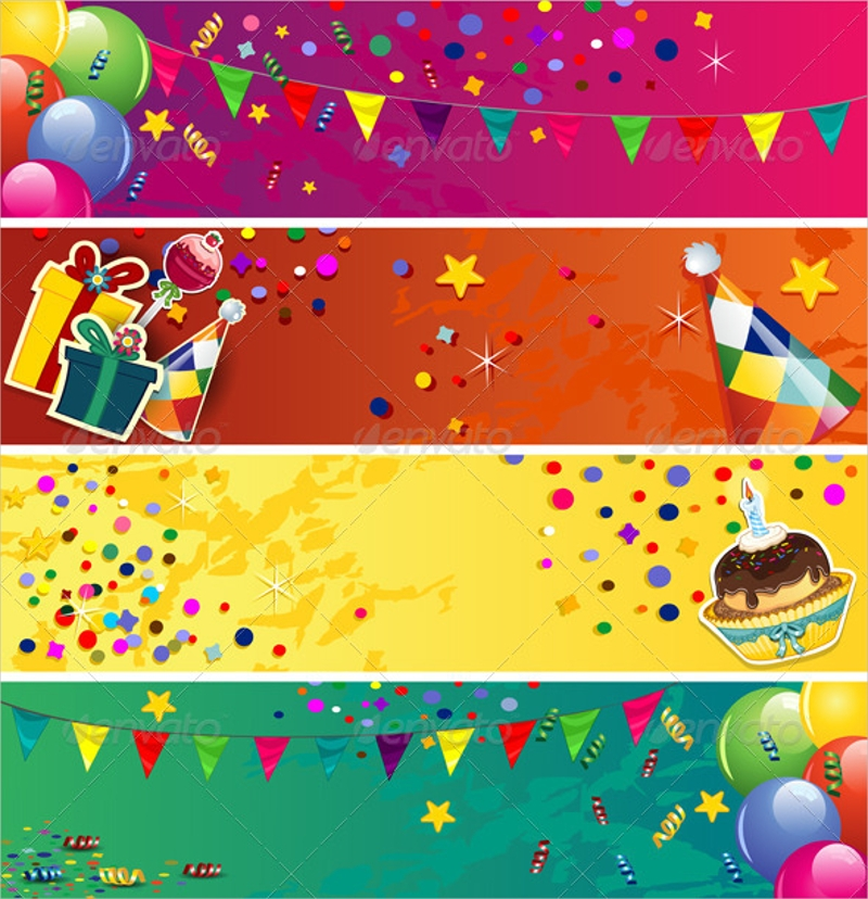 plain birthday banners