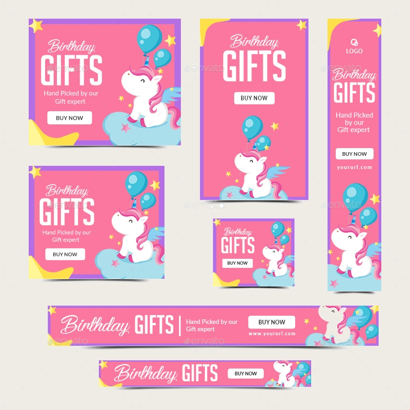 pony birthday banners