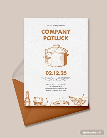 potluck invitation example