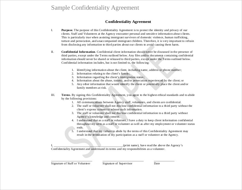 20 Confidentiality Agreement Examples Samples Pdf Doc