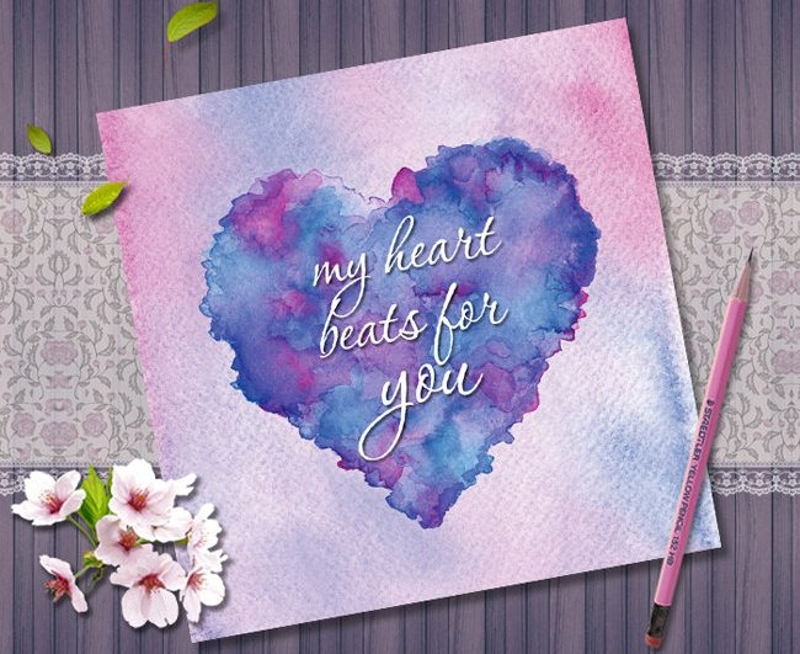 printable romantic greeting card
