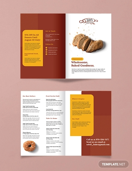 product bi fold brochure template