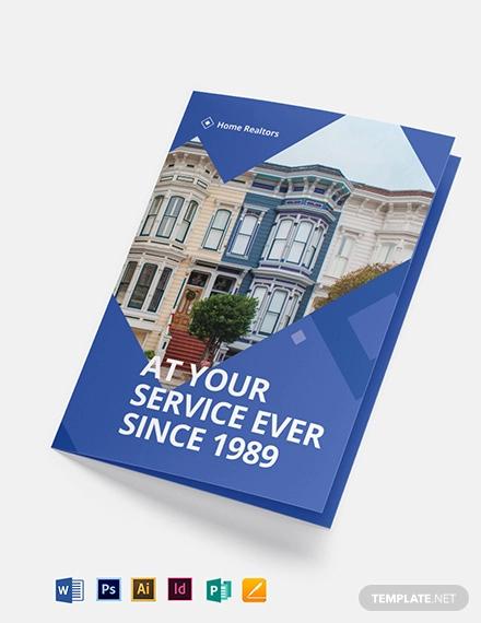 realtor bi fold brochure template
