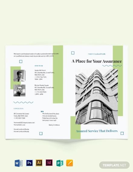 realtor personal branding bi fold brochure template