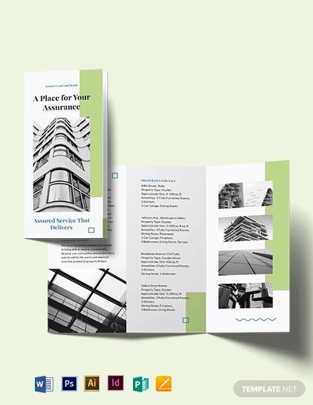 realtor personal branding tri fold brochure template