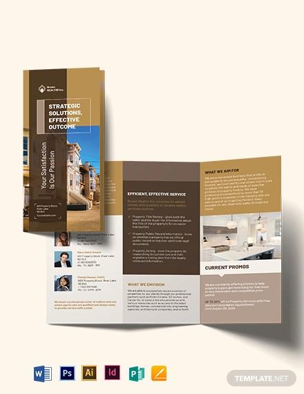 realtor self promotion tri fold brochure template