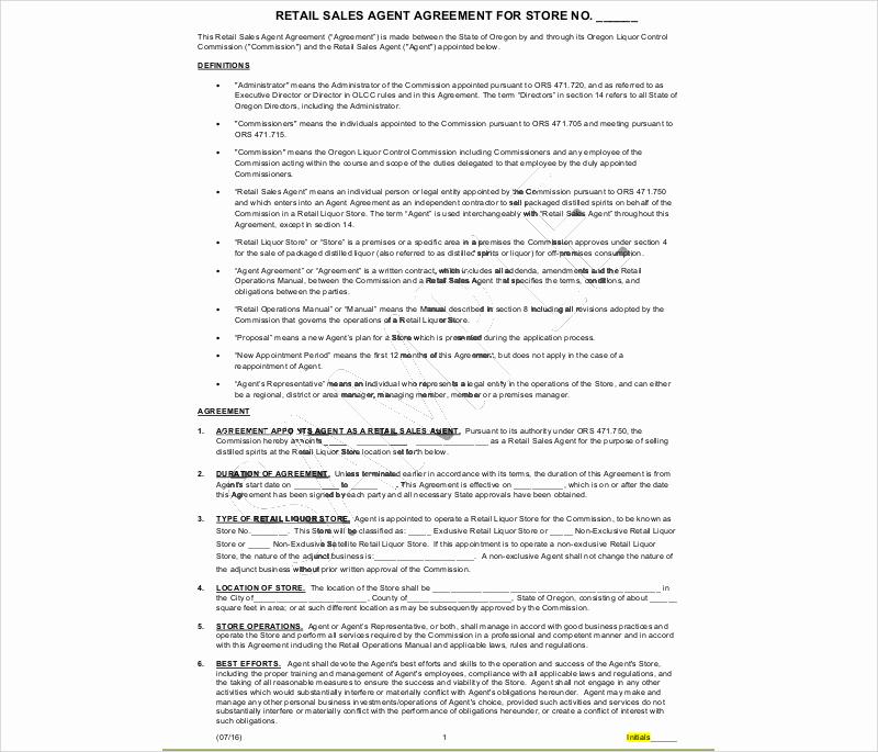 retail sales agent agreement 2
