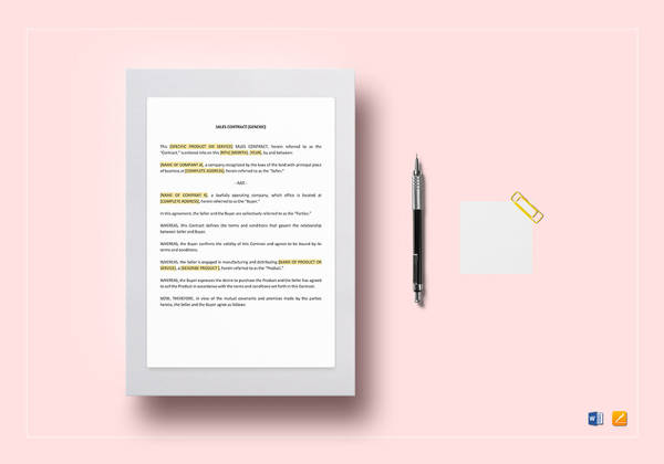 17 Simple Contract Templates Word Docs Pages Examples