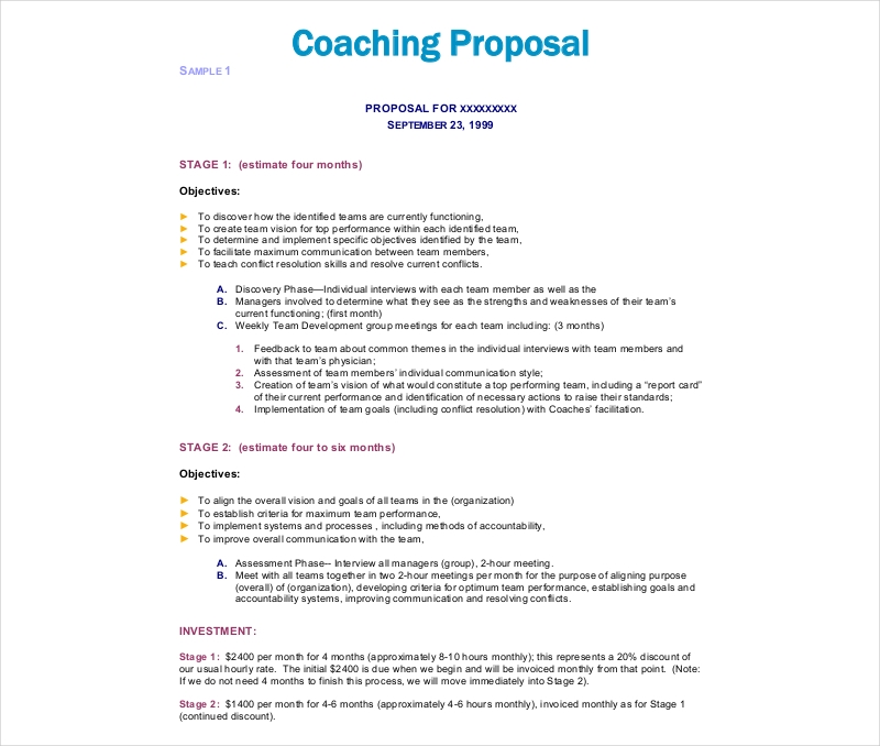 10  coaching proposal examples  u0026 samples in pdf