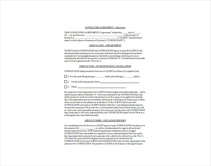 sample consulting agreement1