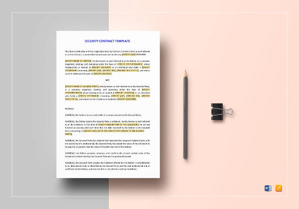 security contract template1