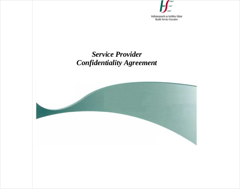 service provider confidentiality agreement