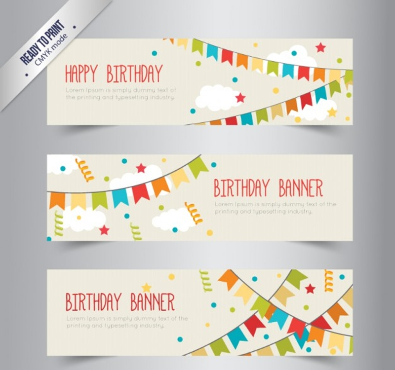 simple birthday banners