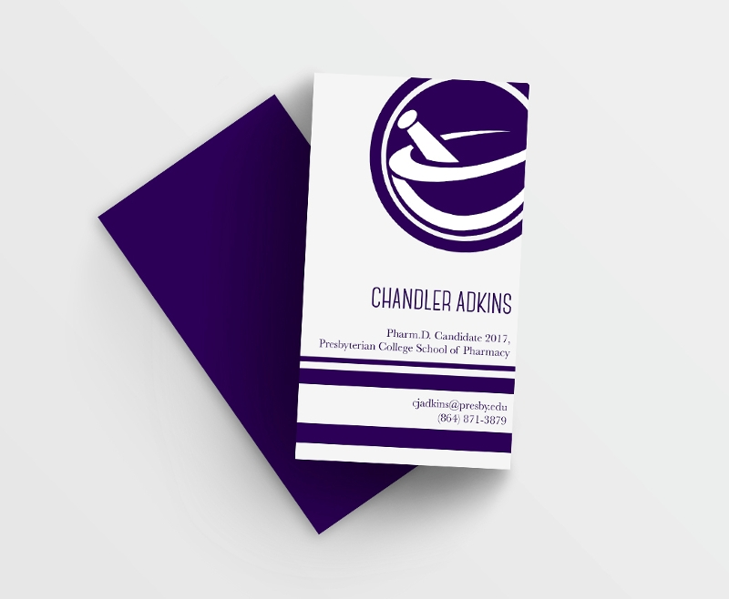 simple student business card