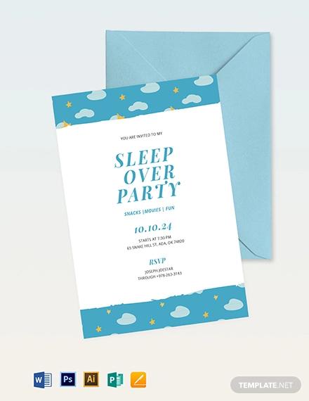 15 Sleepover Invitation Designs Examples Editable Psd Ai Eps