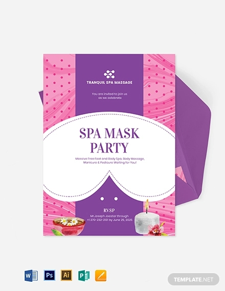spa mask party