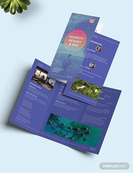 spa resort tri fold brochure